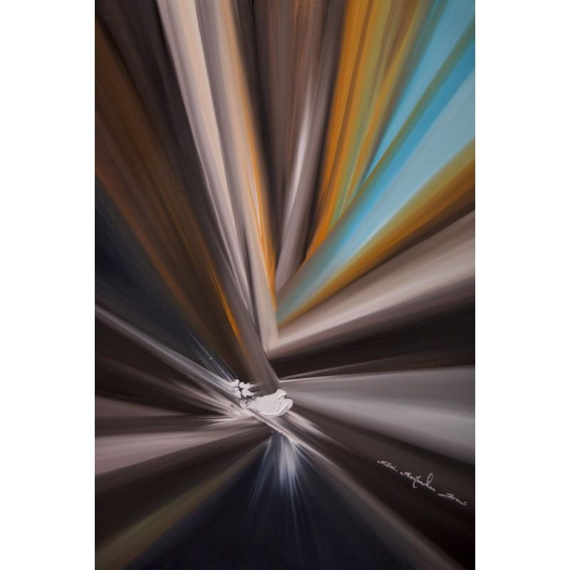 Tableau Abstract sailing par Rémi Bertoche