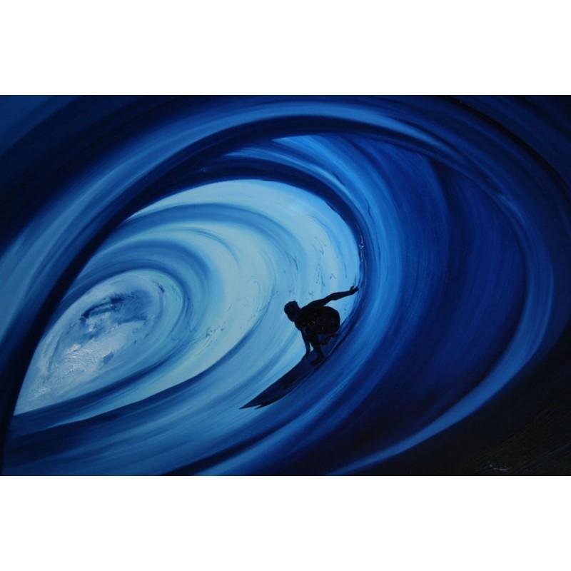 Blue barrel line