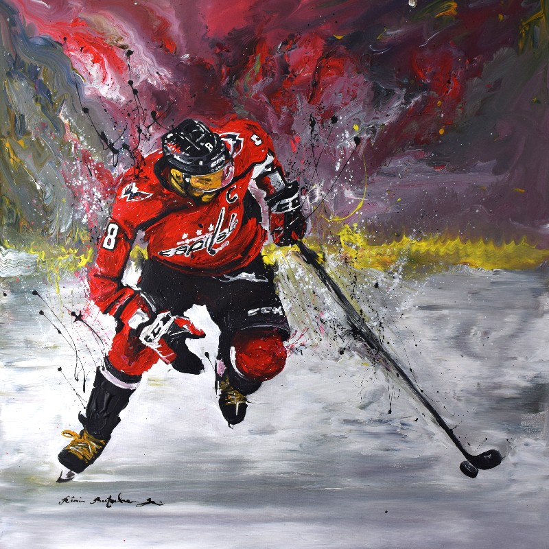 Tableau Capitols Hockey par Rémi Bertoche