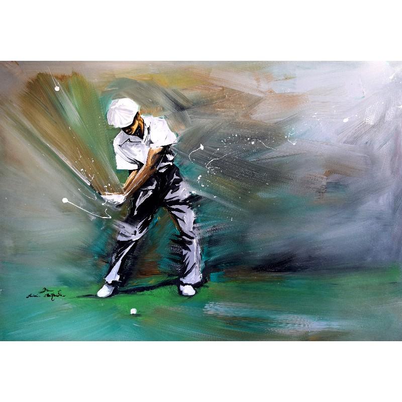 Tableau de golf : Ben Hogan par Rémi Bertoche