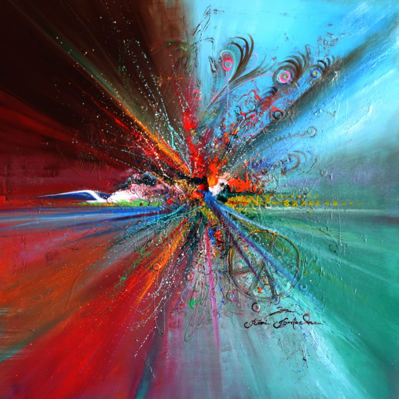 Tableau abstrait Bouquet abstract