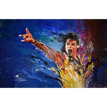 Tableau Michael Jackson par Rémi Bertoche