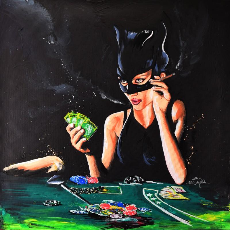 Tableau Catwoman Poker par Rémi Bertoche