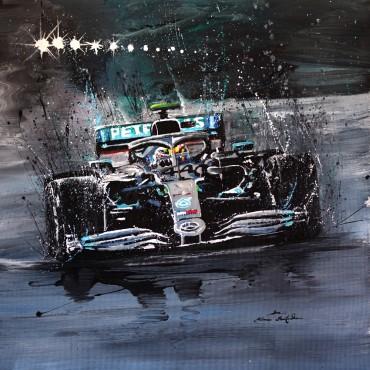 Huile sur toile F1 Lewis par Rémi Bertoche