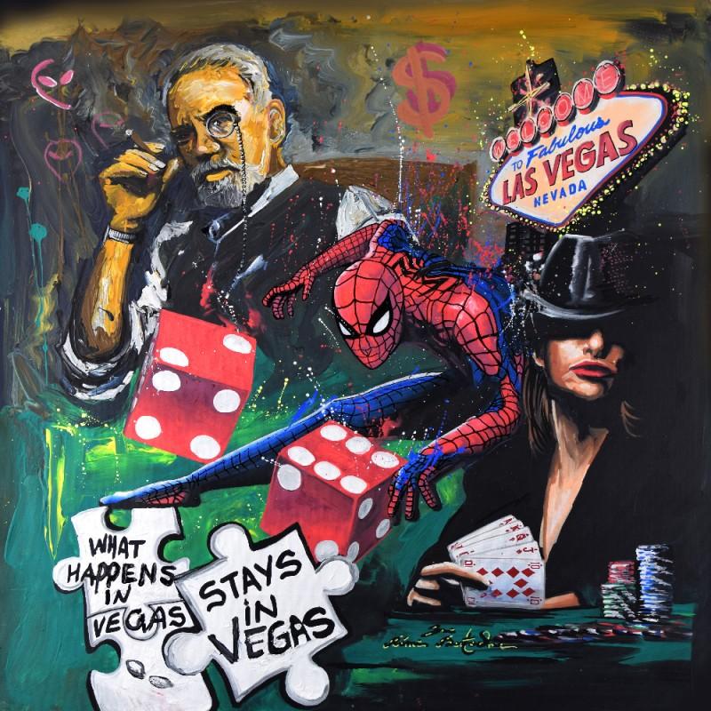 Toile déco Vegas Spiderman par Rémi Bertoche