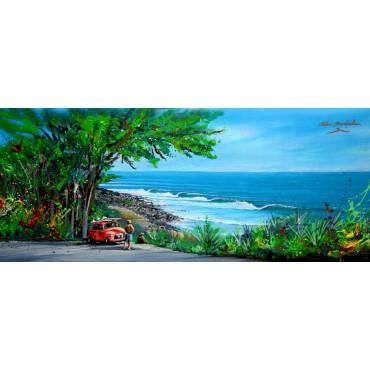 Toile imprimée panoramique Road trip