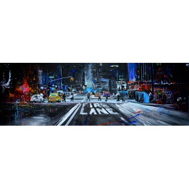 Tableau snowy night city par Rémi Bertoche