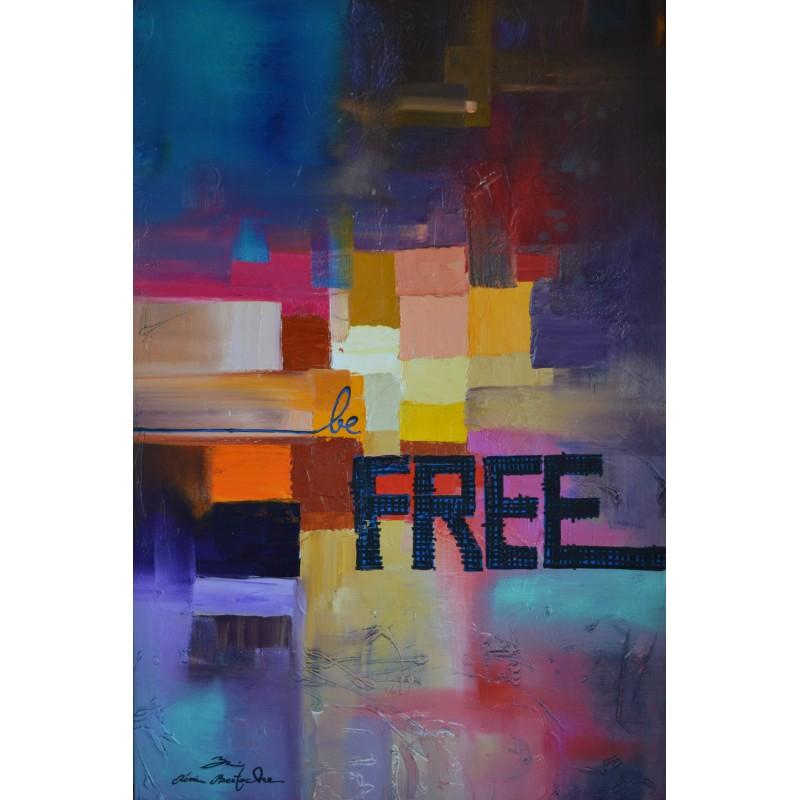 Tableau abstrait Be free par Rémi Bertoche