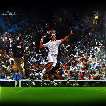 Tableau Federer Smash par Rémi Bertoche