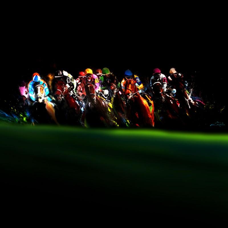 Toile décorative Horse Racing
