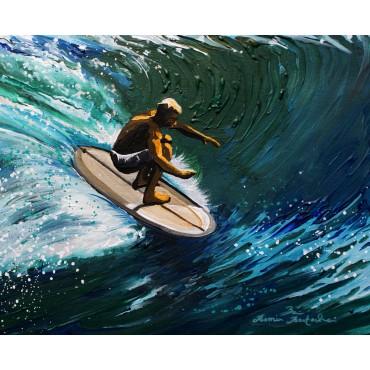 Tableau Classic surfing par Rémi Bertoche