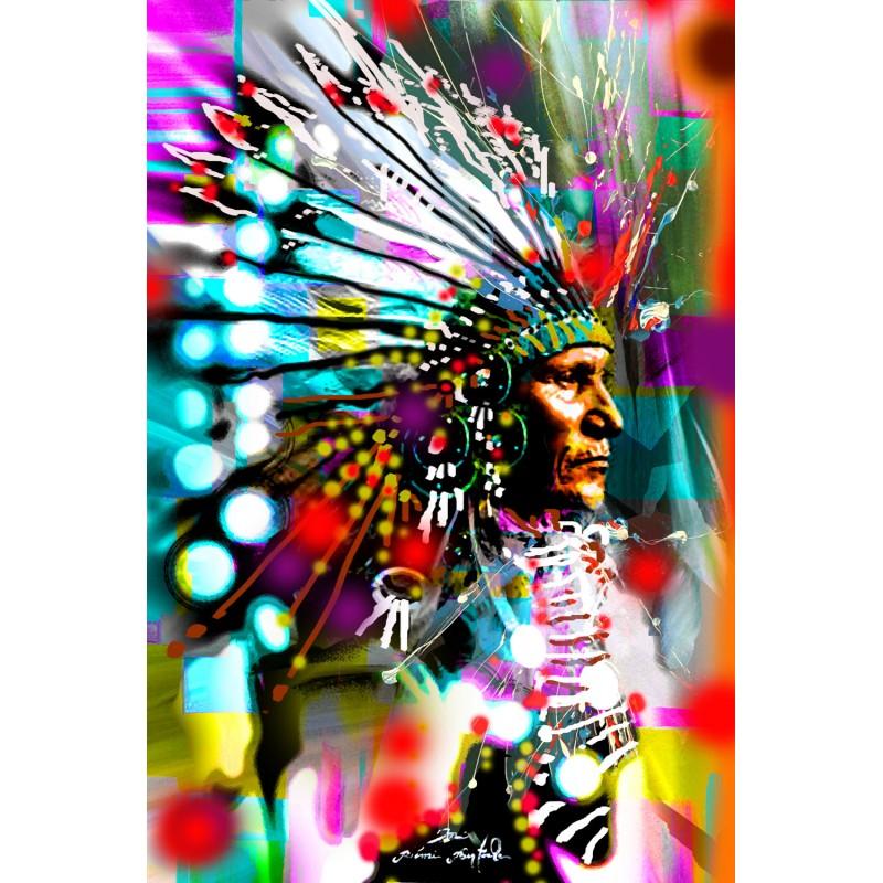 Tableau Indian Face par Rémi Bertoche