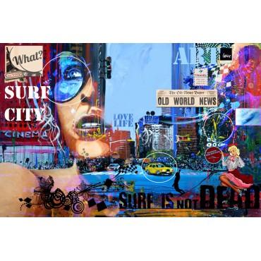 Tableau Urban surf girl par Rémi Bertoche
