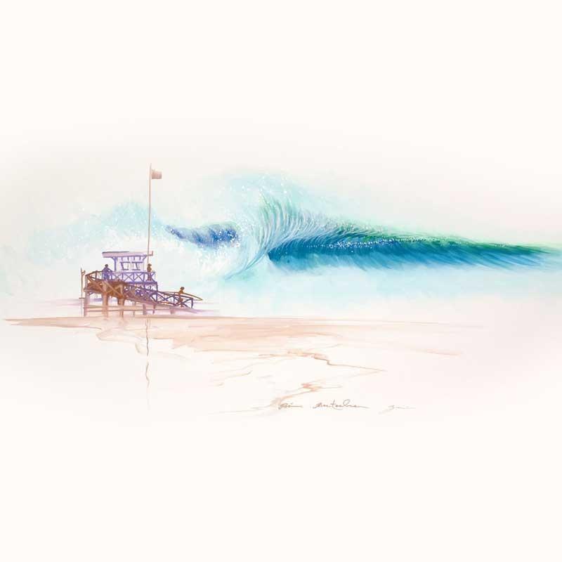 tableau white sand beach  par Rémi Bertoche