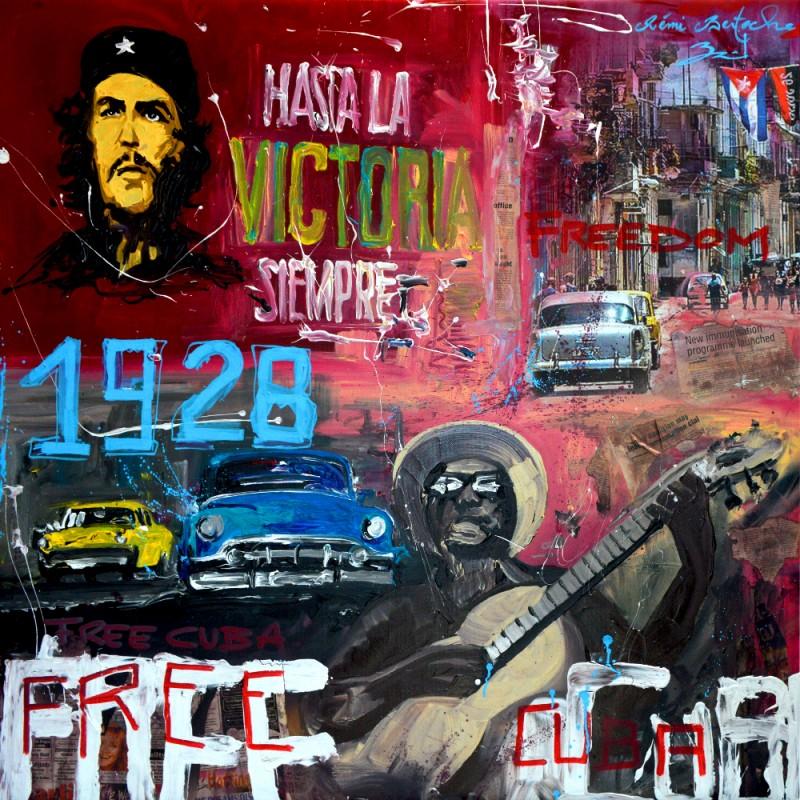 Tableau Free Cuba par Rémi Bertoche