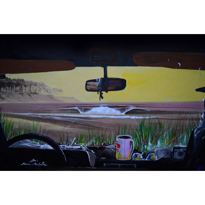 Tableau My beach car par Rémi Bertoche