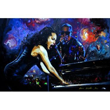 Tableau Alicia Keys et Jay-z
