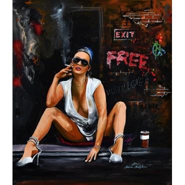 Tableau Free Girl par Rémi Bertoche