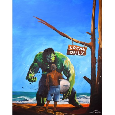 Tableau déco Hulk Surf