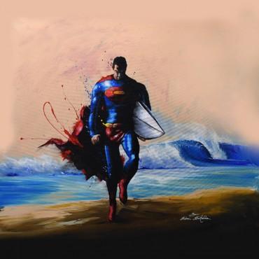 Tableau déco Superman surf