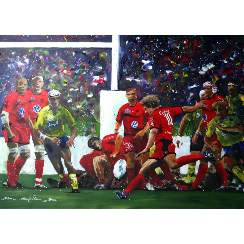 Tableau Rugby Game Wilki par Rémi Bertoche