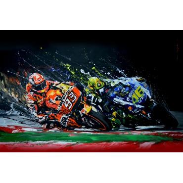 Tableau Rossi VS Marquez par Rémi Bertoche