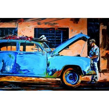 Tableau Blue surf Car par Rémi Bertoche
