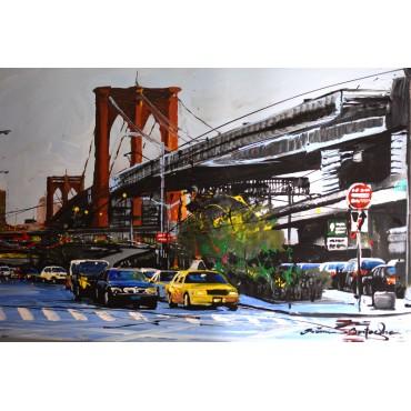 Tableau Brooklyn Bridge par Rémi Bertoche
