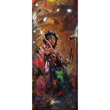 Tableau Jimi Hendrix par Rémi Bertoche