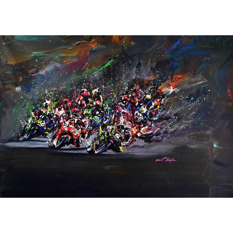 Tableau Moto GP par Rémi Bertoche