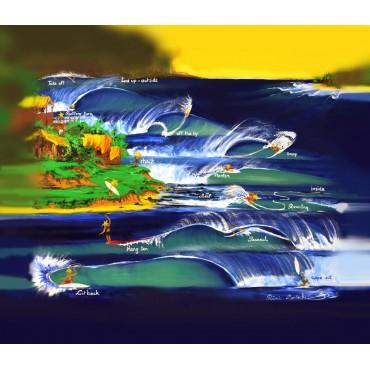 Tableau surf poster par Rémi Bertoche