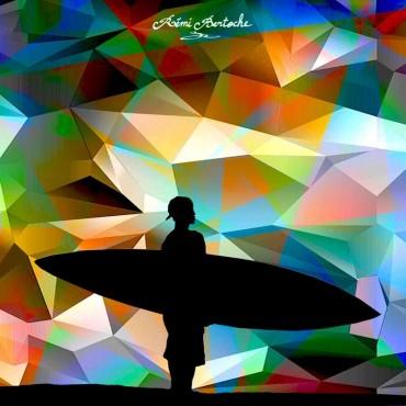 Tableau Mosaiq Rider par Rémi Bertoche
