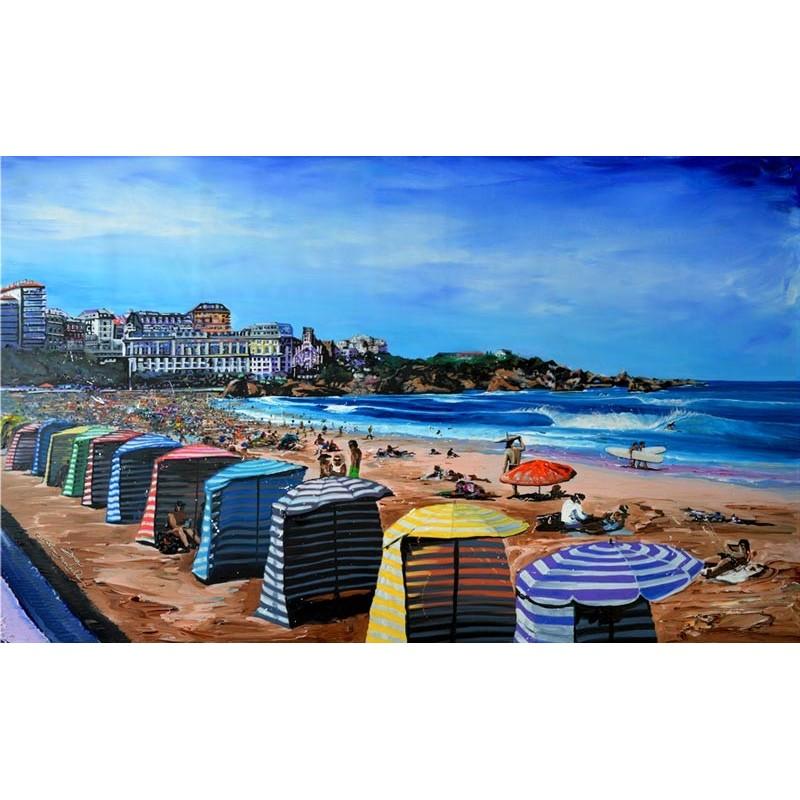 tableau Biarritz par Rémi Bertoche